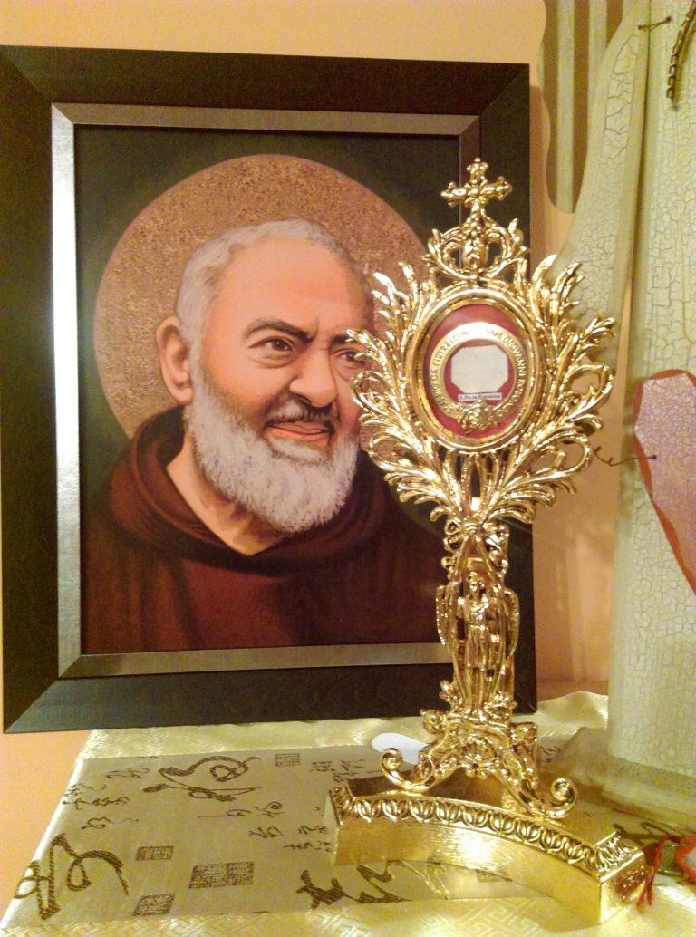 Wprowadzenie relikwii św. Ojca Pio